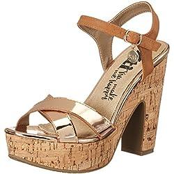 XTI Damen Mirror PU Ladies Sandals Pumps Sandalen, Braun (Nude), 40 EU