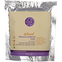 Omved Hibiscus Brahmi Hair Mask - 100% Natural & Organic - Chemical Free - No Synthetic Fillers & Fragrances - For Dry & Frizzy Hair, Dandruff & Hairfall