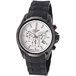 Swiss Alpine Military Red Force Herren 44mm Chronograph Datum Uhr 1635.9872 SAM