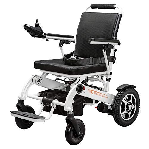 ACEDA Elektrischer Rollstuhl Multifunktionsfalte Elektrorollstuhl Autoälterer,19.8KG Leichtbau,Kann 150 KG Unterstützen,Sitzbreite 45Cm Elektro-Rollstuhl