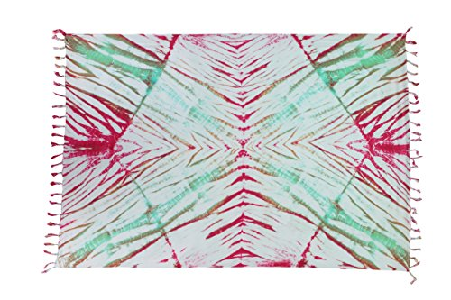 Exclusiv Originale Handarbeit von Ciffre Sarong - Große Auswahl hochwertiger Strandtücher aus Bali Indonesien - Viele Farbe - Pareo Designy by EL-Vertriebs GmbH SJ4 2 er Set Kunstvolles Batik Muster