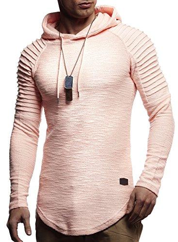 LEIF NELSON Herren Hoodie Pullover Kapuzenpullover T-Shirt Rundhals Ausschnitt Longsleeve Oversize Sweatshirt Hoody (Designer Hoody)