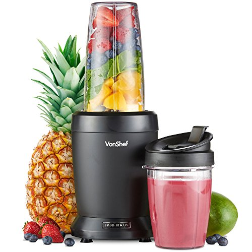 VonShef 1000W UltraBlend Personal Blender Nutrient Extractor includes 800ml and 500ml Cups