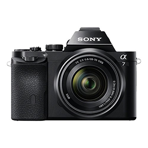sony alpha 7k | fotocamera digitale mirrorless con obiettivo intercambiabile sel 28-70mm, sensore cmos exmor full-frame da 24.3 mp, ilce7b + sel2870, nero