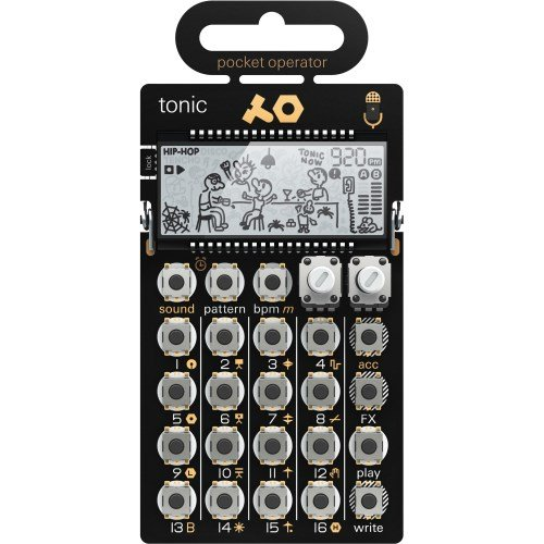 Teenage Engineering po-32 Tonic Drum Synthesizer und Sequencer, Gold/Schwarz