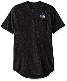 849cf4a86cb14d Southpole Men s Short Sleeve Scallop Slub Tee with Chest Pocket