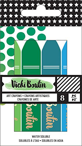 American Crafts Vicki Boutin Mixed Media Oil Pastel Art Crayons 8/Pkg-#2 - Cool
