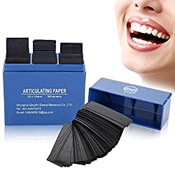 300 Pieces Dental Paper, Dental Anticulating Papers Dental Care Strips Dental Orthodontic Strips(blue)