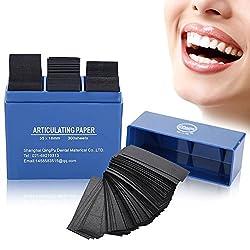 300 Pieces Dental Paper, Dental Anticulating Papers Dental Care Strips Dental Orthodontic Strips(blue)