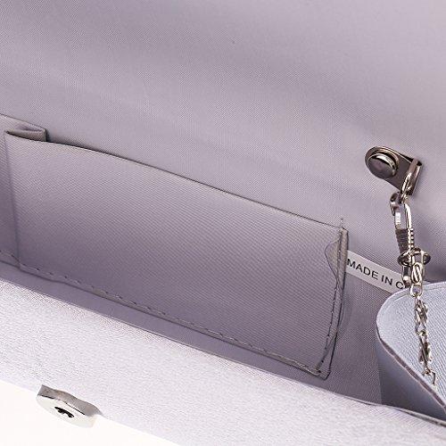 93672d36ca655 ... Gazechimp damen Abend Umschlag Clutch Tasche Geldbörse Kette  Schultertasche - Blau Silber ...