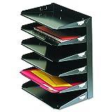 MMF Industries Be-Active Kochgeschirr-Letter-Format Horizontal Stahl Schreibtisch Organizer, schwarz (2646hbk)
