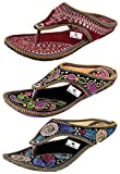 #3: Thari Choice Woman and Girls Ethnic Slipper (Pack of 3)