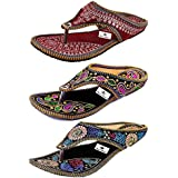 Thari Choice Casual Stylish Flat Slipper for Women (Pack of 3)