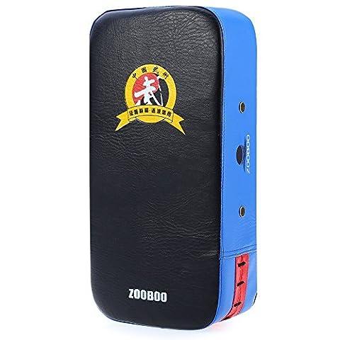 Zooboo Strike Shield, pied Kicking Cible de perforation de karaté MMA boxe Muay Thai TKD Training Gear 1pièce rectangle, bleu