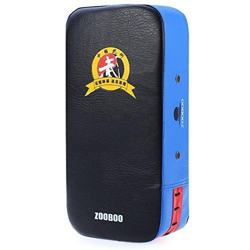 Zooboo Strike Shield, Fuß Kicking Stanz Target Pad Karate MMA Sparring Muay Thai TKD Training Gear 1Rechteck, blau (Kicking Shield)