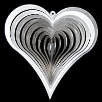 Edelstahl-Windspiel Herz mini Breite x H/öhe 6,5cm F/ür den Garten und als Fensterschmuck