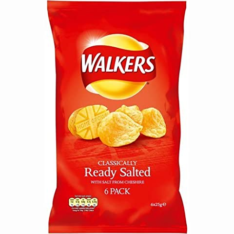 Walkers Crisps Ready Salted 6 x