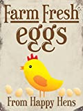 Grindstore Farm Fresh Eggs Blechschild 30,5 x 40.7 cm