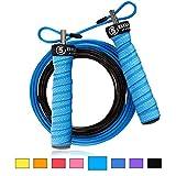 5BILLION Springseil Speed Rope - Verbiegen - Einstellbar - Workout für Double Unders, Fitness, WOD, Draussen, MMA & Boxen Ausbildung (See)