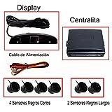 Fologar 6 Sensores Aparcamiento Negro con Display y Pantalla 4 Traseros y 2 Delanteros.