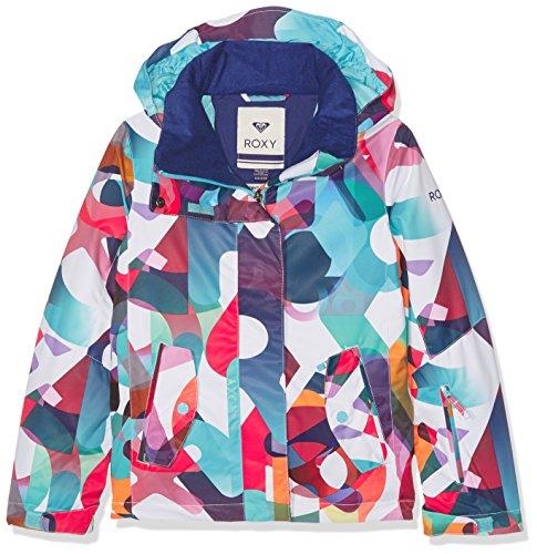 Roxy ERGTJ03011-WBB3_8/S,Giacca da sci da ragazza, Multicolore, 10 anni M
