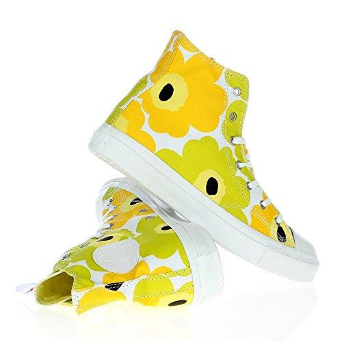 Converse AS Marimekko Hi Cotton jaune Lime Jaune - Jaune