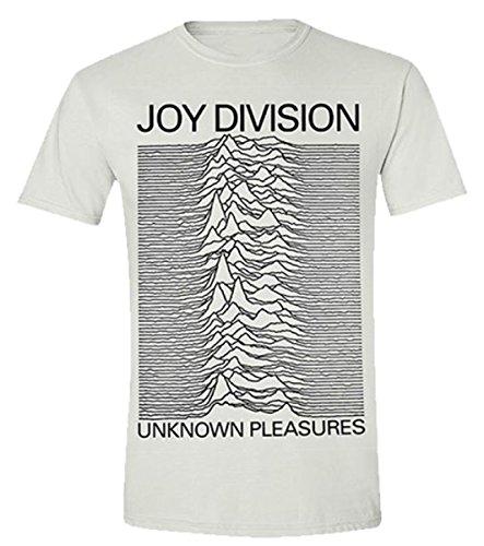 Joy Division Unknown Pleasures (Bianco) TS Schwarz M