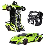 SainSmart Jr. Voiture de transformation Transforming Car RC Car Toy RC Véh icules 2.4 Ghz Robot Car Toy, voiture télécommande à grande vitesse avec One-Button Transforming et 360 Speed Drifting