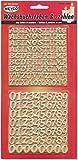 """Wachsset """"Zahlen & Buchstaben"""" Gold"""