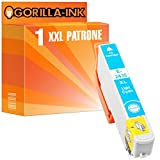 Gorilla-Ink® 1x Tinten-Patrone XXL GI2435 Light Cyan kompatibel zu Epson Expression Photo XP-55 XP-750 XP-760 XP-850 XP-860 XP-950 XP-960
