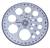 AACEE 's Plastic Transparent Pro-Circle Winkelmesser Radius Vorlage Zeichnung Maßstab