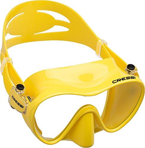 Cressi Unisex Tauchmaske F1, gelb, one size, ZDN281010