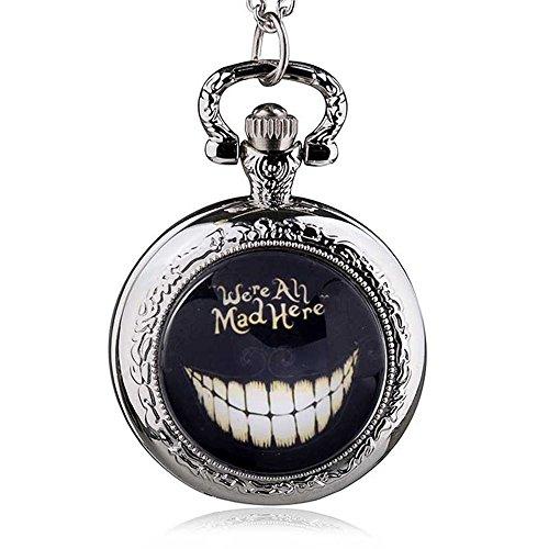 Im Alice Kostüm White Rabbit Wunderland - HWCOO Taschenuhren Retro Medium Uhr Alice im Wunderland Uhr Quarz Taschenuhr Uhren (Color : 2)