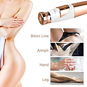 Woman Shaver Facial Hair Trimmer Women''s Painless Hair Remover Razor Epilator Portable Flawless Lady Shaver for Face Leg Armpit Arm Bikini Line Body[Battery-Operated]