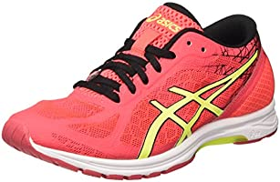 Asics GEL-DS Racer 11, Scarpe da Corsa Donna, Multicolore (Diva Pink/Safety Yellow/Black), 37.5 EU