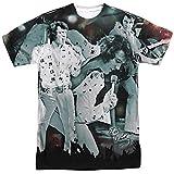 Elvis Presley Herren T-Shirt Gr. XL, Weiß - Weiß