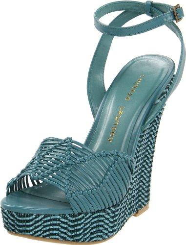 Chinese Laundry Simple Sweet Femmes Synthétique Sandales Compensés Aqua blue
