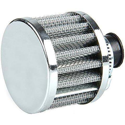 Mintice™ 12mm Mini plata cono de motor de coche universal de admisión de aire frío filtro de turbo limpio de ventilación del vehículo