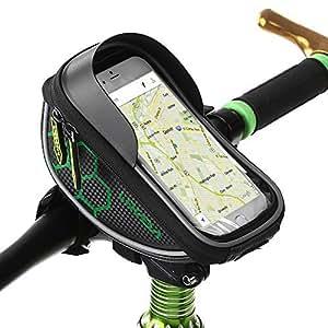 Lixada Borsa Telaio Bici,Borsa Bici,Impermeabile Anteriore Telaio Borse Wheel Up Telefono sotto di 6 inch Touchscreen Porta Cellulare Bici,Bicicletta Borsa Manubrio