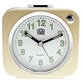 At Time Orologio da Tavolo, Analogico, Plastica, Oro