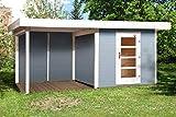 weka Designhaus 172 B Gr.2, grau, 28 mm, ET, Anbau 300 cm, ohne RW