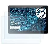 Bruni Schutzfolie kompatibel mit Odys Winpad 10 Folie, glasklare Bildschirmschutzfolie (2X)