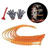 Auto Schneeketten, Samber 10 Stück Anti Rutsch Snow Tire Ketten Auto Universal Schneeketten mit Schneeschaufel und Anti-Rutsch Handschuhe