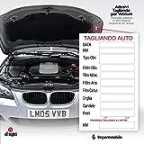 2AINTIMO adesivi pvc tagliando auto generici per auto olio freni candele aria cinghie (5)