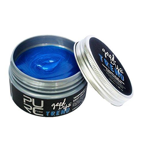 Haarfärbemittel, Huihong Haarwachs Haarcreme 100ml Haarentfernung Poly Tönung Haare färben Haarwachs (Blau)