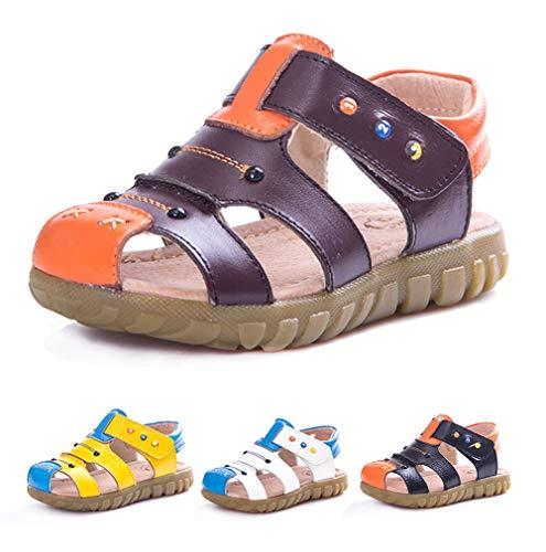 a1f3c8383 SMajong Sandalias Punta Cerrada para Niño Verano Playa Suave Zapatos de Niña  Estilo Sandalias Ocasionales del