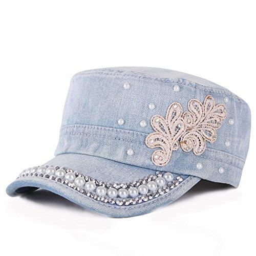 Damen Cowboy-Hüte Koreanische Version der stilvolle Outdoor-flache Kappe Lässig - Damen-cowboy-hut