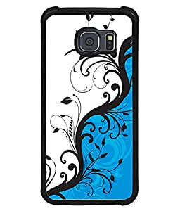PrintVisa Designer Back Case Cover for Samsung Galaxy S6 Edge :: Samsung Galaxy S6 Edge G925 :: Samsung Galaxy S6 Edge G925I G9250 G925A G925F G925Fq G925K G925L G925S G925T (Crazy Dog Red Color Spectacles Red ribbon Tied Neck Designer Case Black and White Colour Cell Cover Good Looking Simple Girly Smartphone Cover Pretty Dog Lovers Simple Cute Puppy )