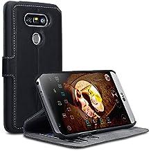 LG G5 Case, Terrapin Étui Housse en Cuir Ultra-mince Avec La Fonction Stand pour LG G5 Coque Cuir - Noir