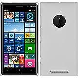 PhoneNatic Case für Nokia Lumia 830 Hülle weiß gummiert Hard-case + 2 Schutzfolien